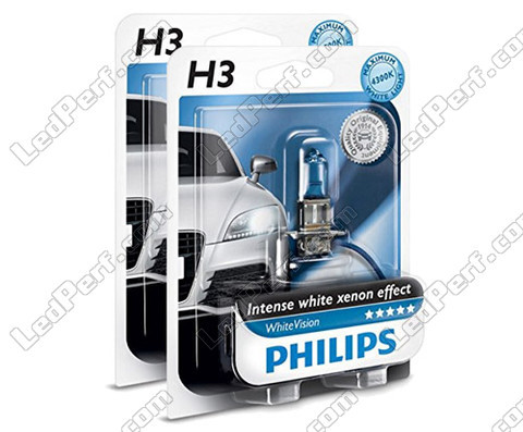Set met 2 H3 lampen Philips WhiteVision