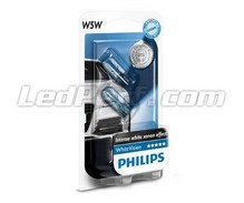 Pack de 2 Veilleuses Philips WhiteVision - Blanc - Culot W5W