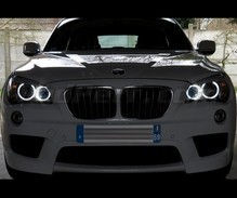 Set angel eyes H8 met leds (zuiver wit 6000K) voor BMW X1 (E84) - MTEC V3.0
