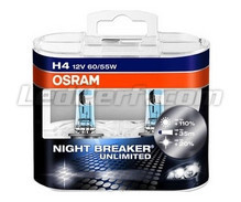 Set met 2 H4 lampen Osram Night Breaker Unlimited