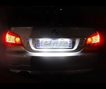 Ledset (zuiver wit) nummerplaat achter voor BMW Serie 5 E60 E61