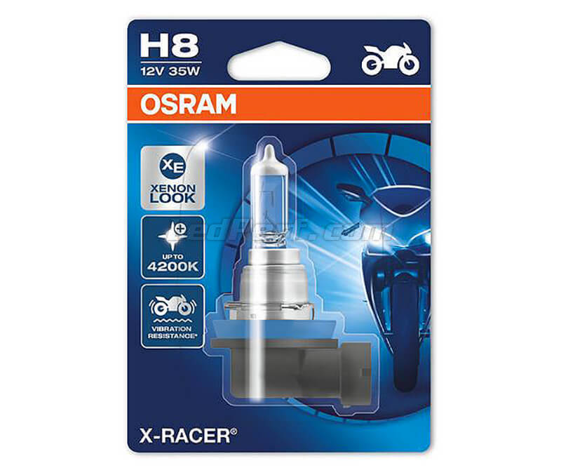 Lamp H8 Osram X-Racer Halogeeneffect Xenon pour Motor - 35W