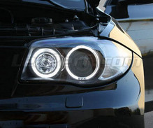 Set angel eyes met leds (zuiver wit) voorBMW Serie 1 fase 2 - MTEC V3.0